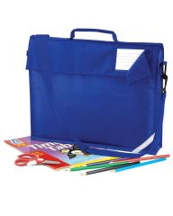 CROSSROADS PRIMARY SCHOOL JUNIO ROYAL BLUE BOOK BAG WITH STRAP WITH LOGO